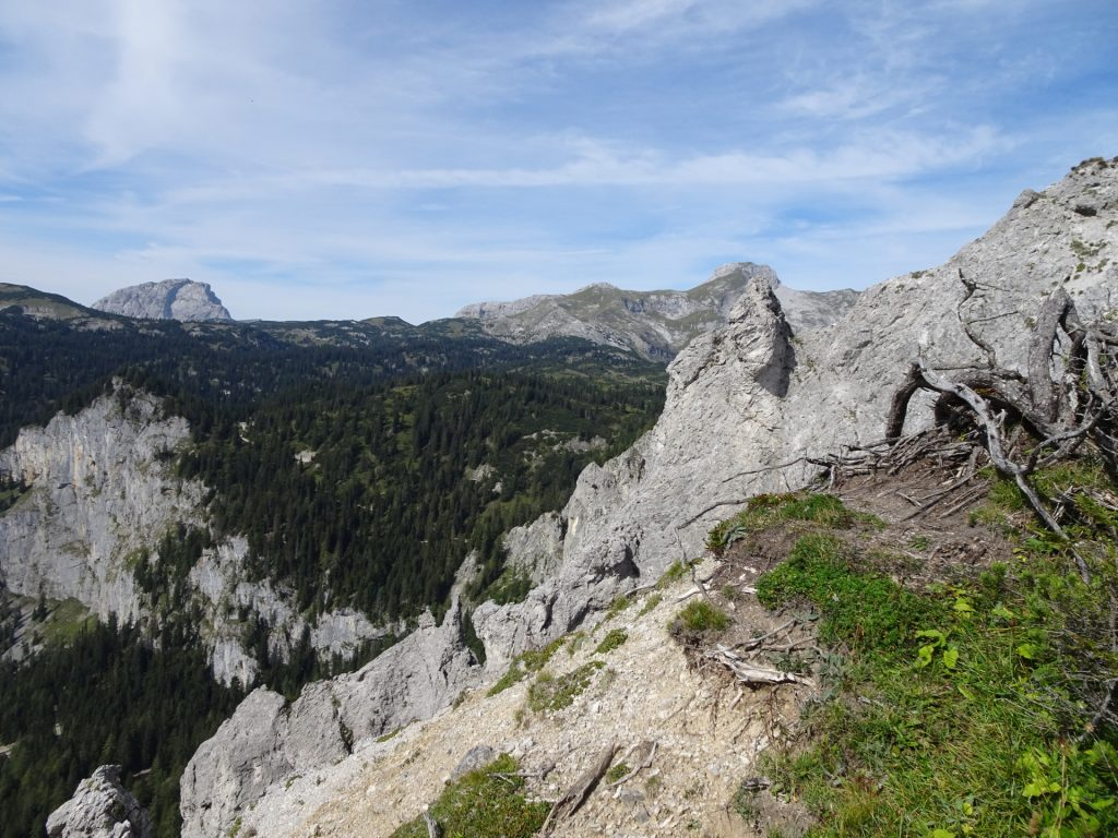 """View of """"Ebenstein"""" from the trail"""