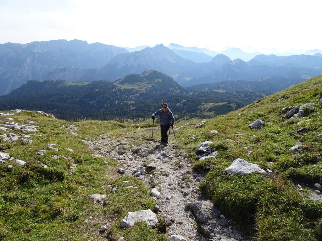 """Robert ascending towards """"Kleiner Ebenstein"""""""