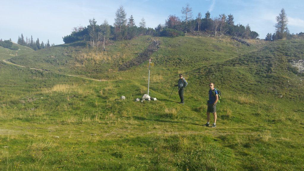 "Robert and Stefan on the trail towards ""Klammboden"""