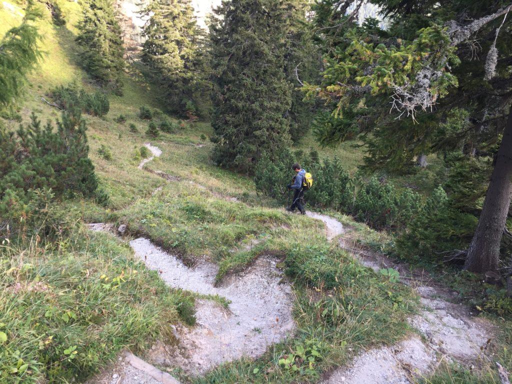 "Robert on the way down towards ""Klammboden"""