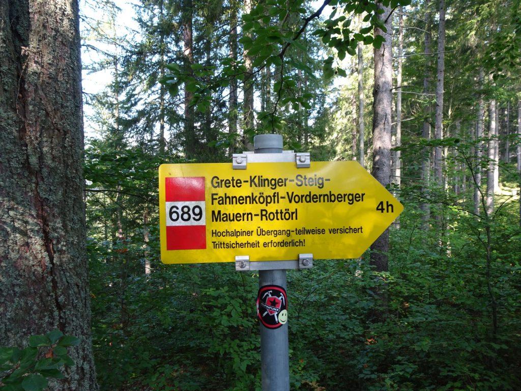 "Follow trail ""689"""