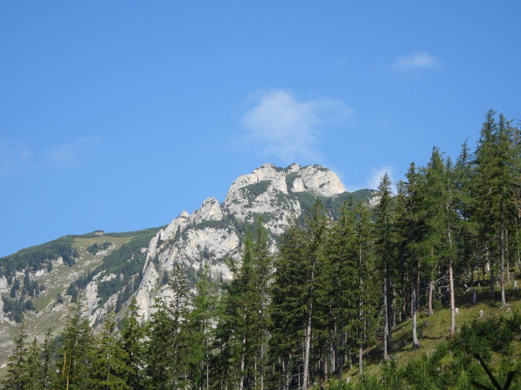 "View from the trail towards ""Grete Klinger Steig"" (the via ferrata follows the ridge)"