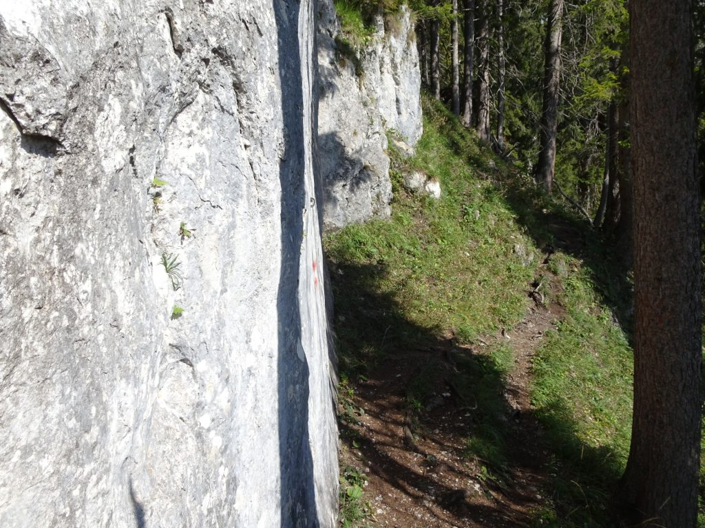 Bypassing impressive cliffs (climbing routes)