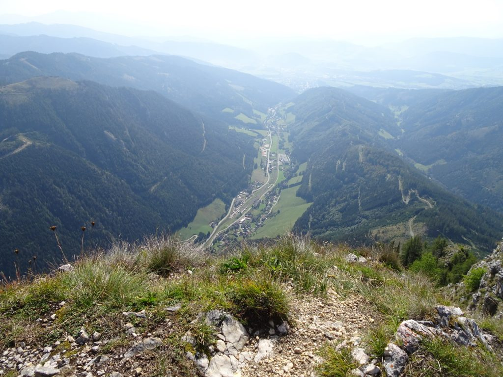 """View downwards from """"Fahnenköpfl"""""""