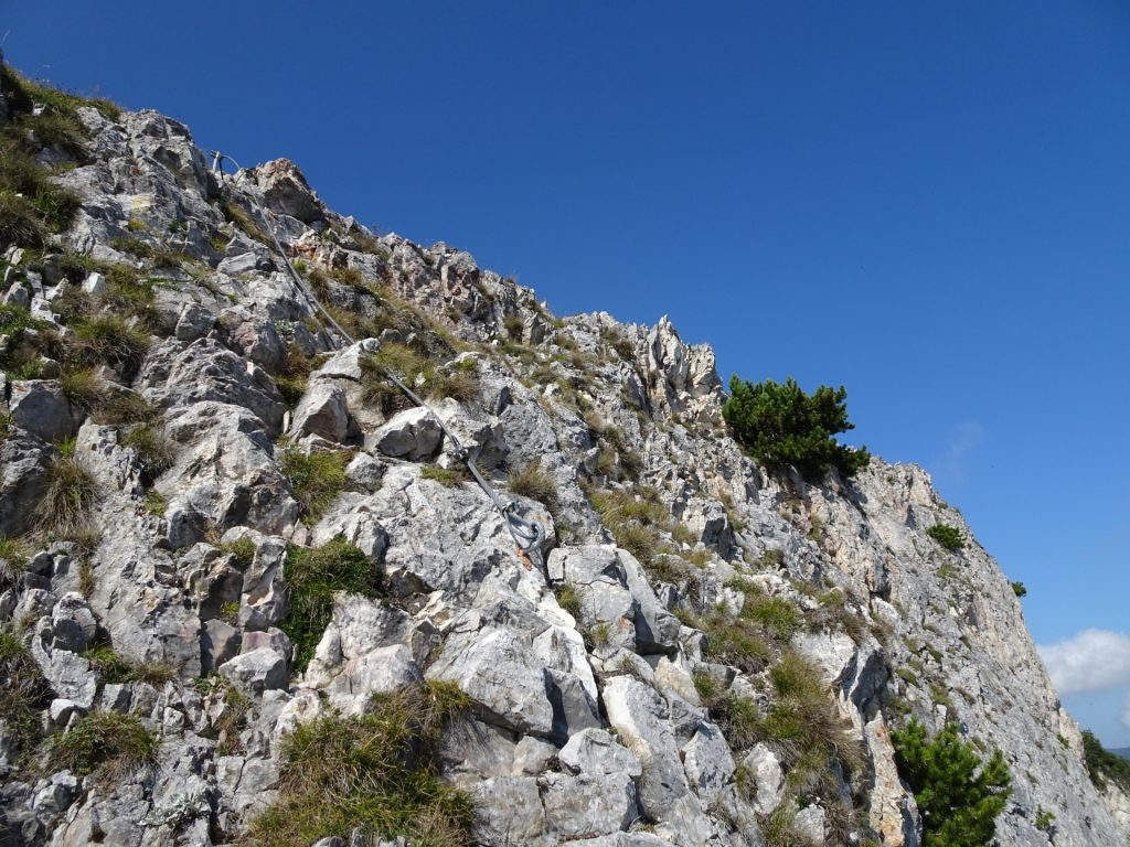 Towards the first crux (B)