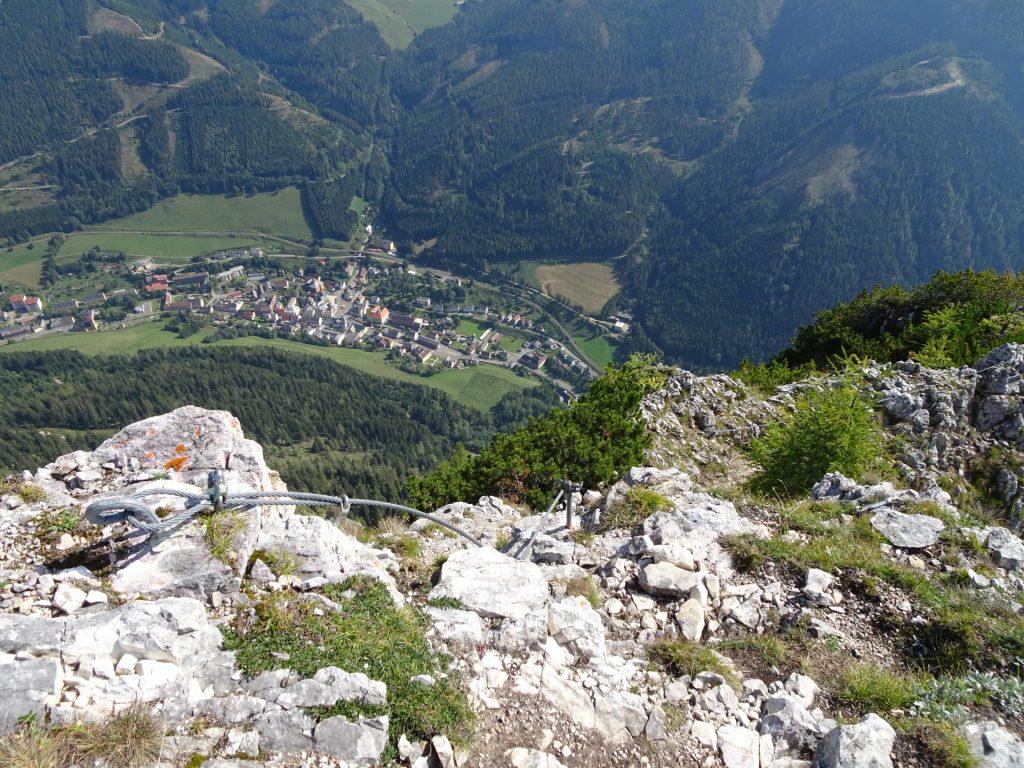 "View downwards to &quot:Vordernberg"""