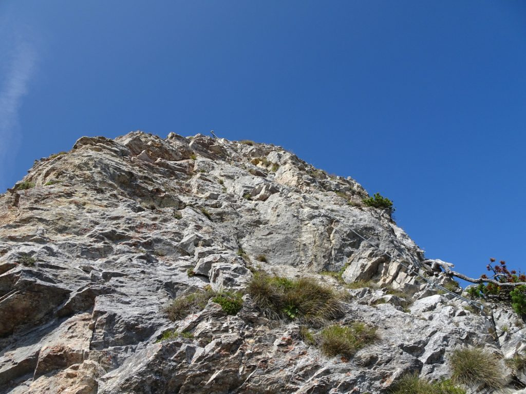 "The second crux: Climb towards ""Vordernberger Mauer"" summit cross (B/C)"