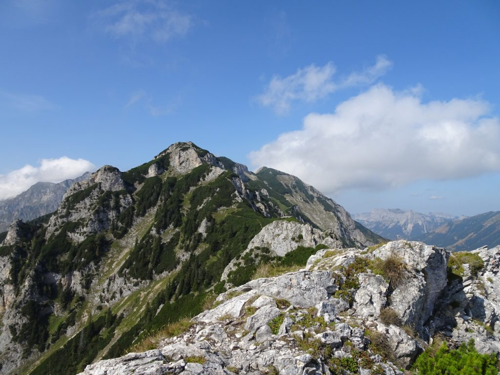 The trail continues towards the next summit...