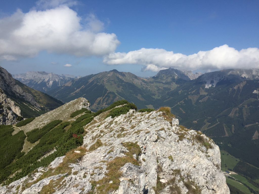 """View from the ridge at """"Vordernberger Mauer"""""""