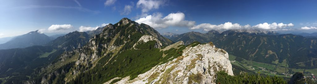 """Panoramic view from """"Vordernberger Mauer"""""""