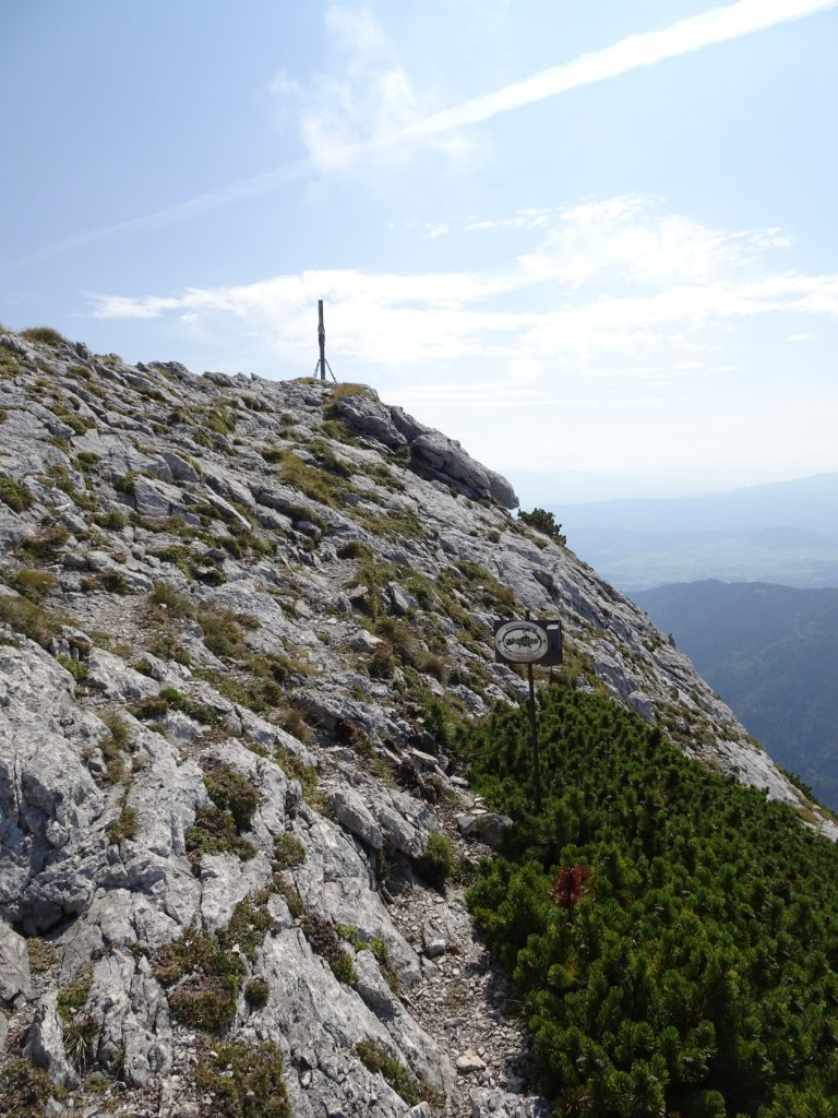 """View back to """"Vordernberger Mauer"""" (get your stamp here!) and continue on the trail"""