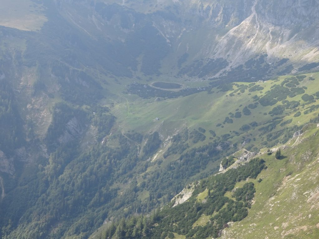 """View down to the """"Krumpalm"""" and the """"Krumpensee"""" lake"""