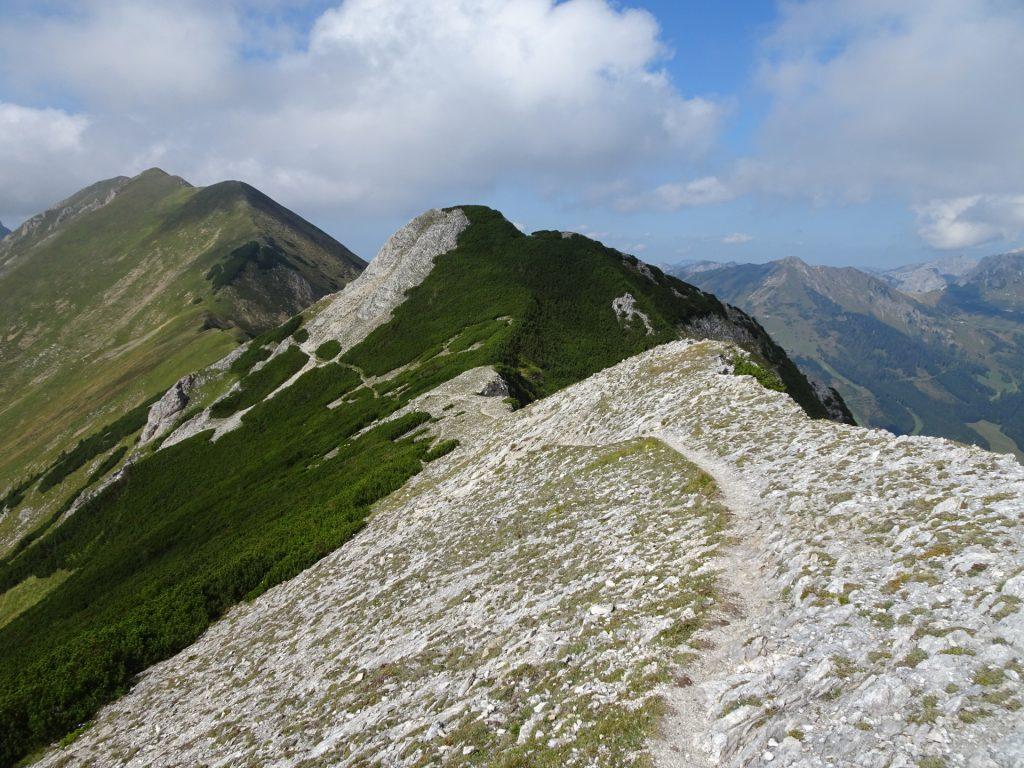 """Along the ridge towards """"Vordernberger Zinken"""""""
