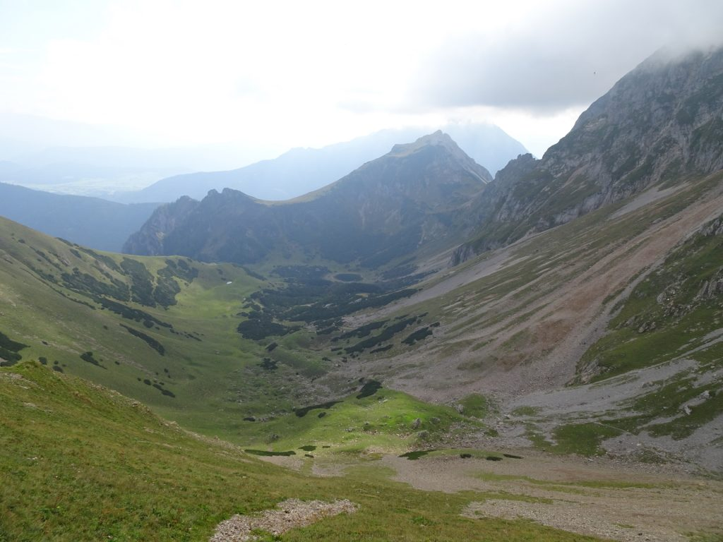 """View downwards to the """"Krumpalm"""" and the """"Krumpensee"""" lake"""