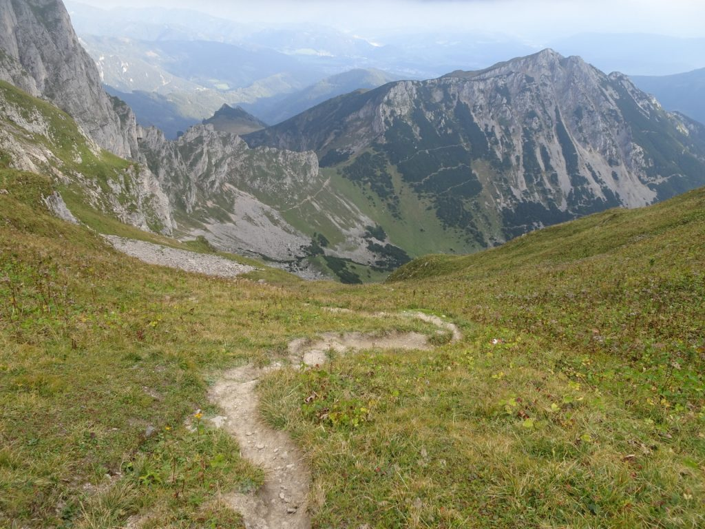 """Trail downwards to """"Hirnalm"""""""