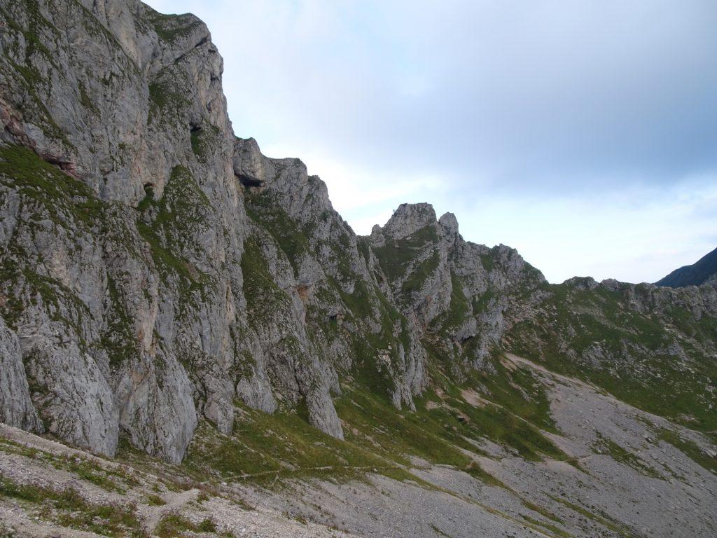 Trail follows an amazing landscape