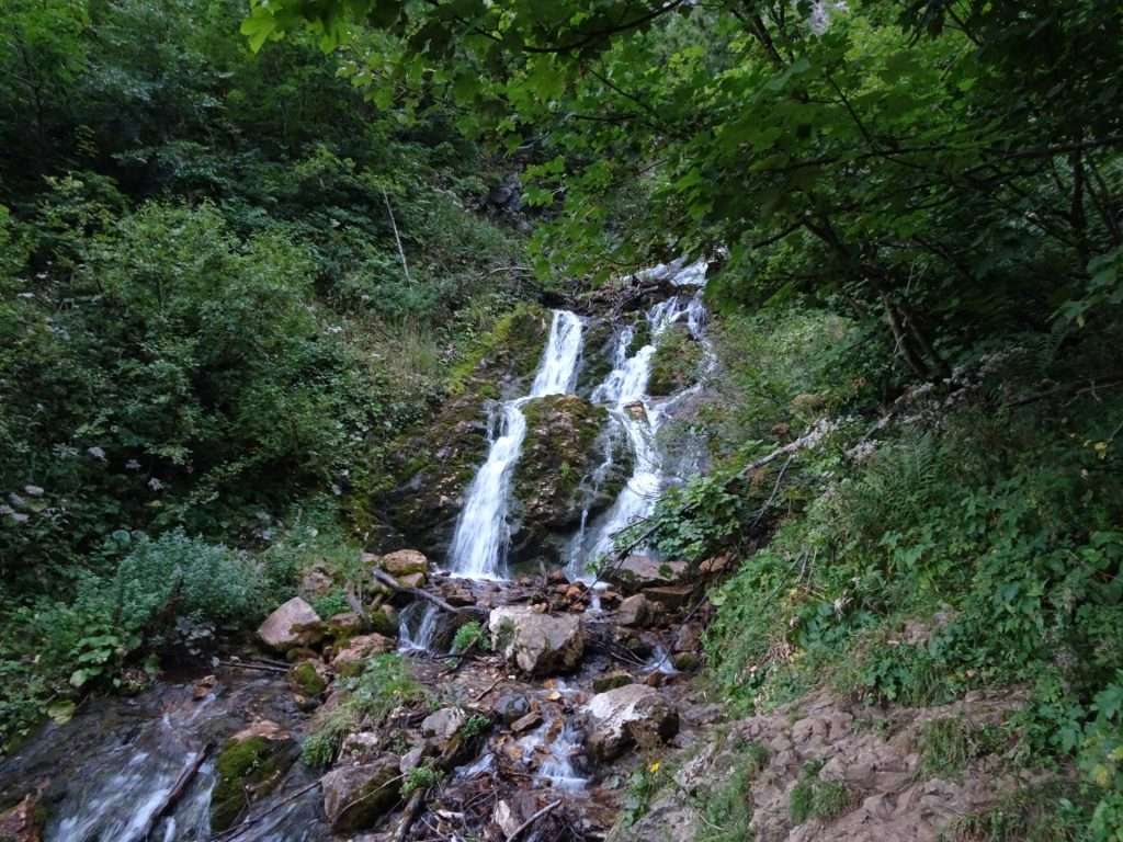 """One of the """"Krumpenbach"""" waterfalls (next to the trail)"""