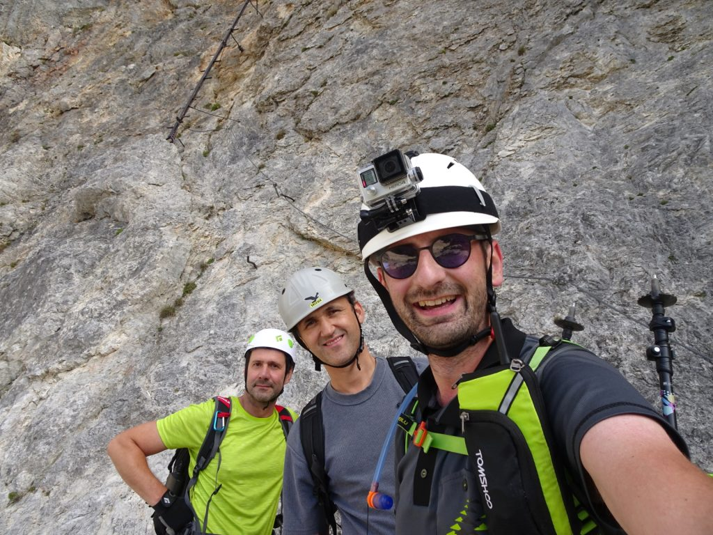 Hans, Bernhard and Stefan in front of the 1st climbing tree