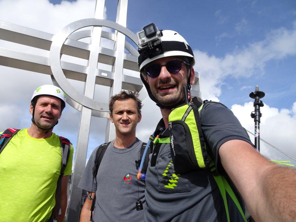 Hans, Bernhard and Stefan at the summit (Preiner Wand)