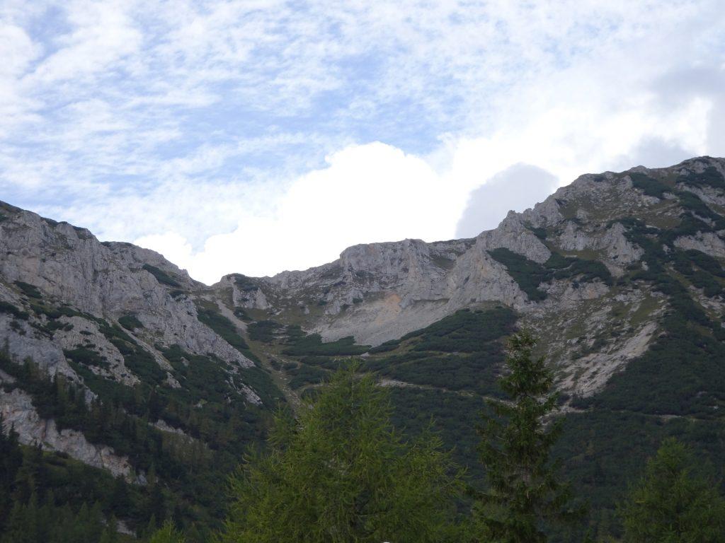 Schlangenweg visible from Waxriegelhaus