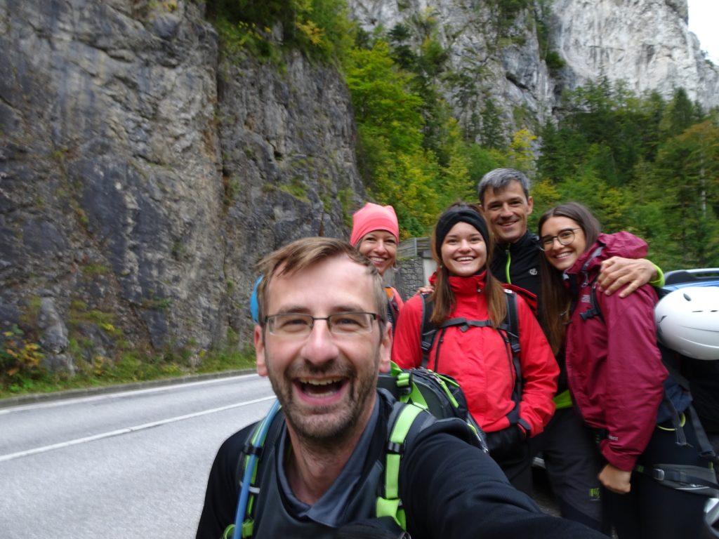 Stefan, Marion, Amelie, Thomas and Saskia are ready to go