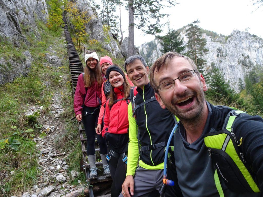 """Stefan, Thomas, Amelie, Marion and Saskia at the """"Schönbrunnerstiege"""""""