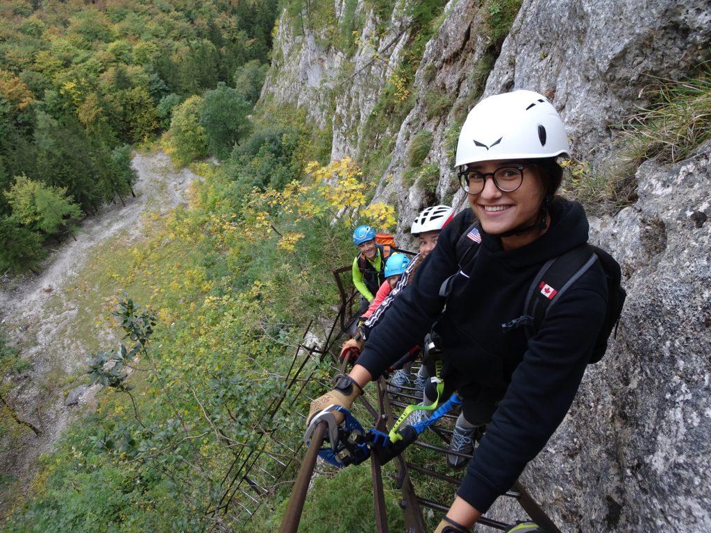 "The Haas family climbing the ""AV-Steig"""