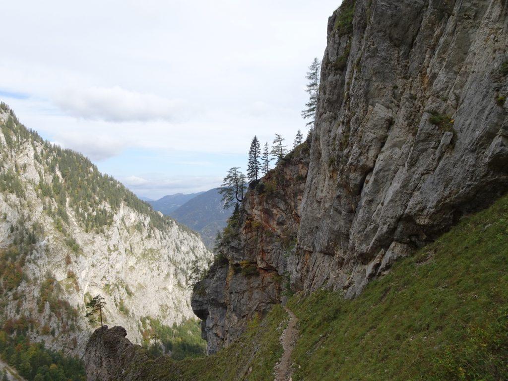 """View back on the trail of """"AV-Steig"""""""