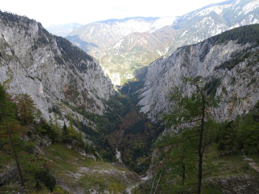 "View towards the ""Höllental"" from the ""Elsa-Rast"""