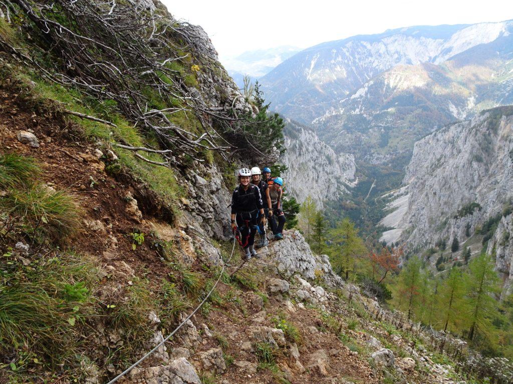 "Climbing up the ""AV-Steig"""