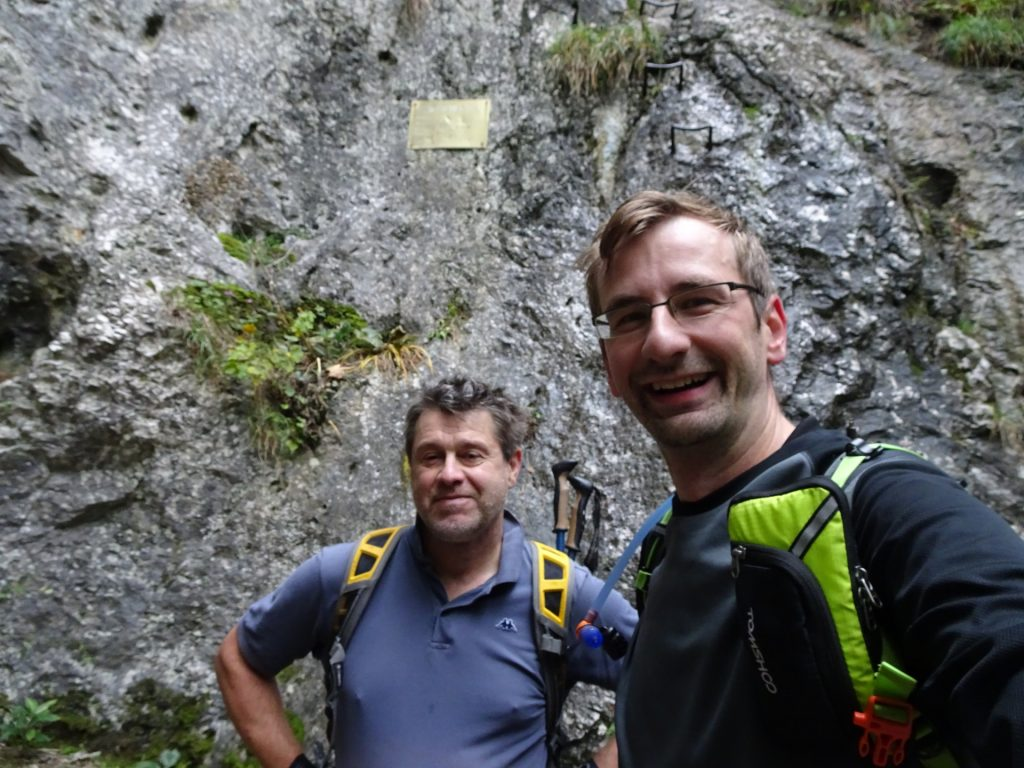 "Robert and Stefan at the begin of the ""Kleine Klause"" via ferrata"