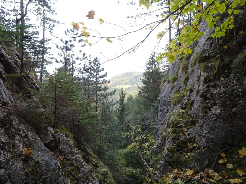 View back from the via ferrata