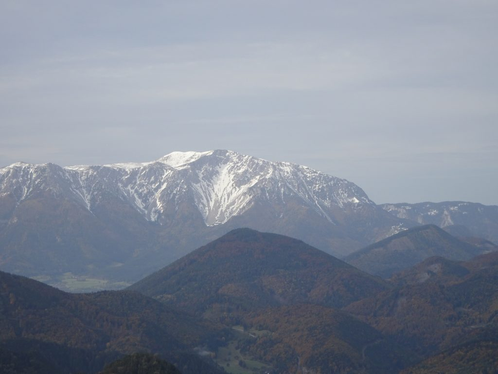 Schneeberg seen from the top of the viewpoint tower