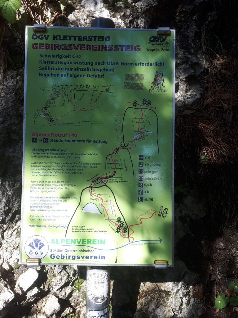 "The sign at the begin of ""Gebirgsvereinssteig"""