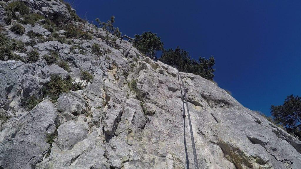 GV-Steig: The steep headwall ((14), D)
