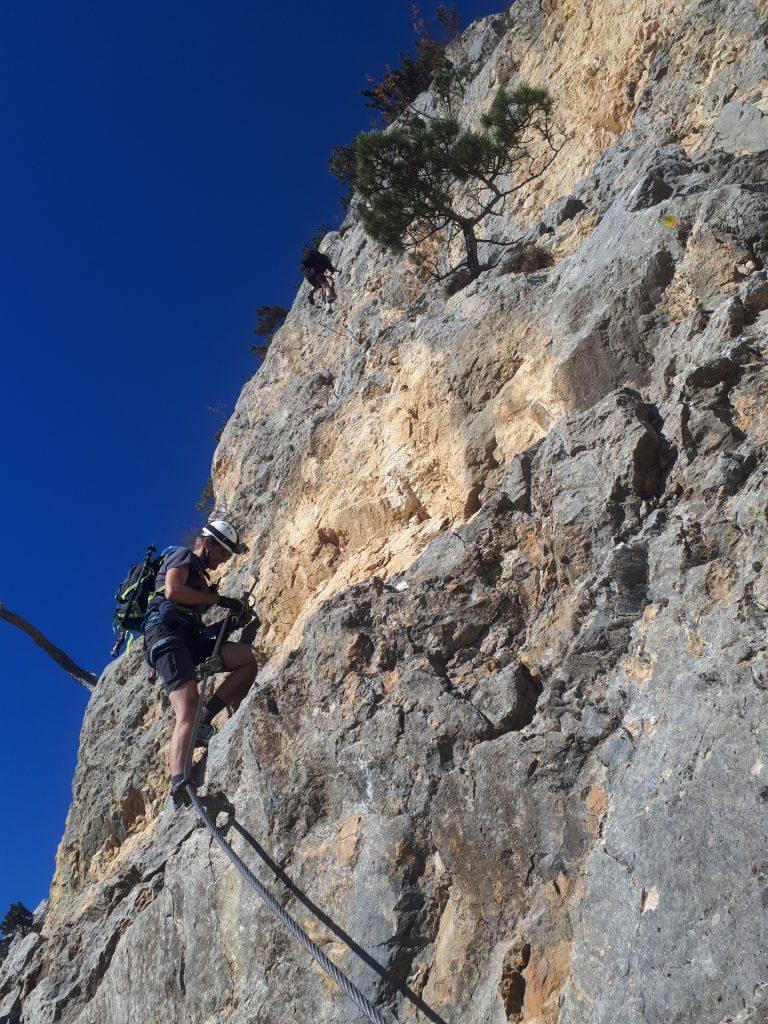 """GV-Steig: Stefan at the """"Weningerwand"""" ((3, 4) C/D)"""