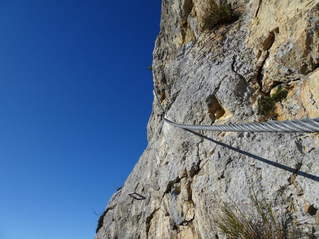 "GV-Steig: Steep part of ""Weningerwand"" ((4), D)"