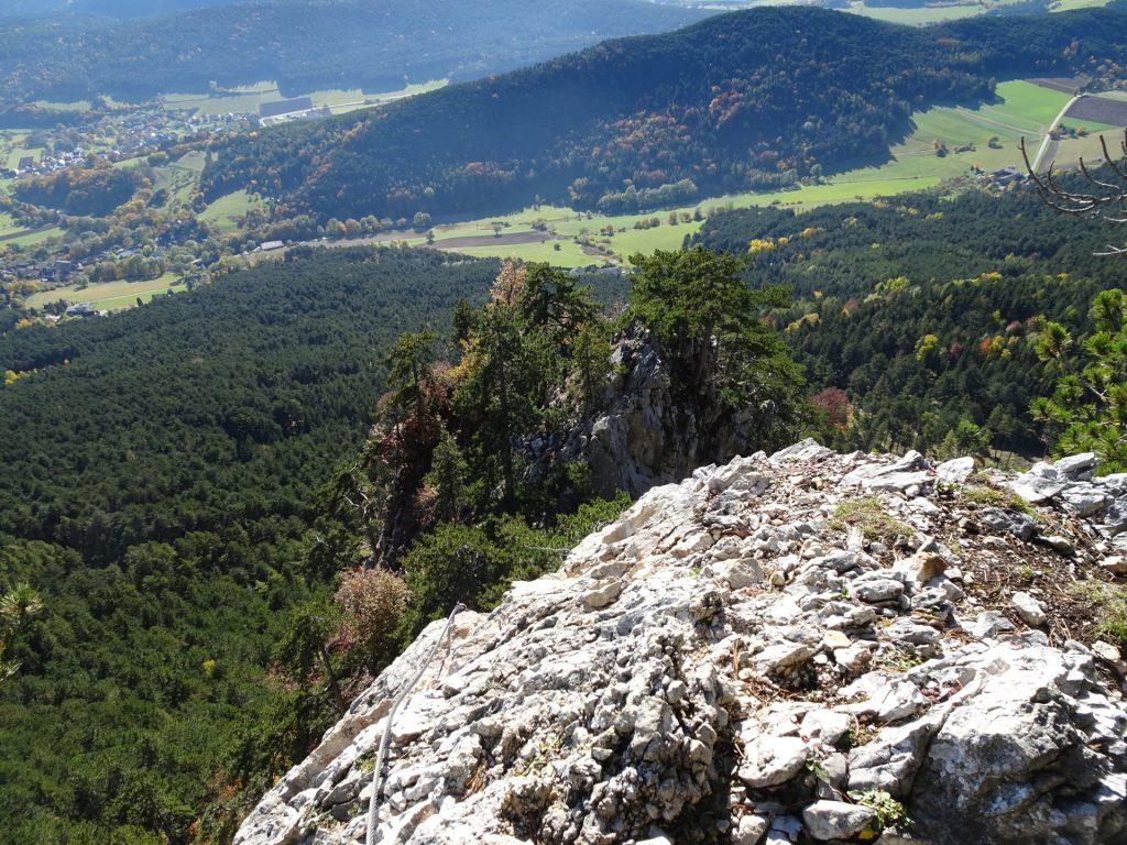 GV-Steig: View back from the ridge ((11), B)