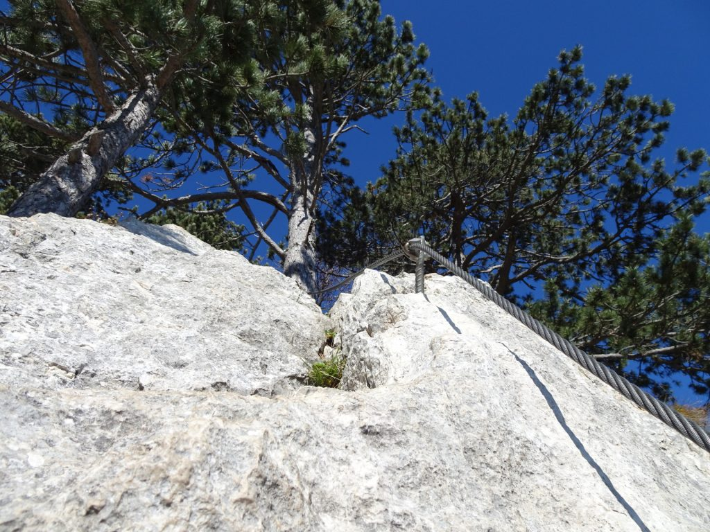 """GV-Steig: Towards the exit at the """"Headwall"""" (C)"""