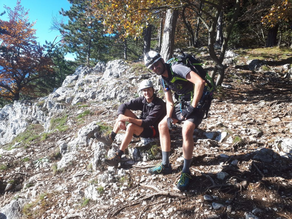 GV-Steig: Bernhard and Stefan mastered the via ferrata