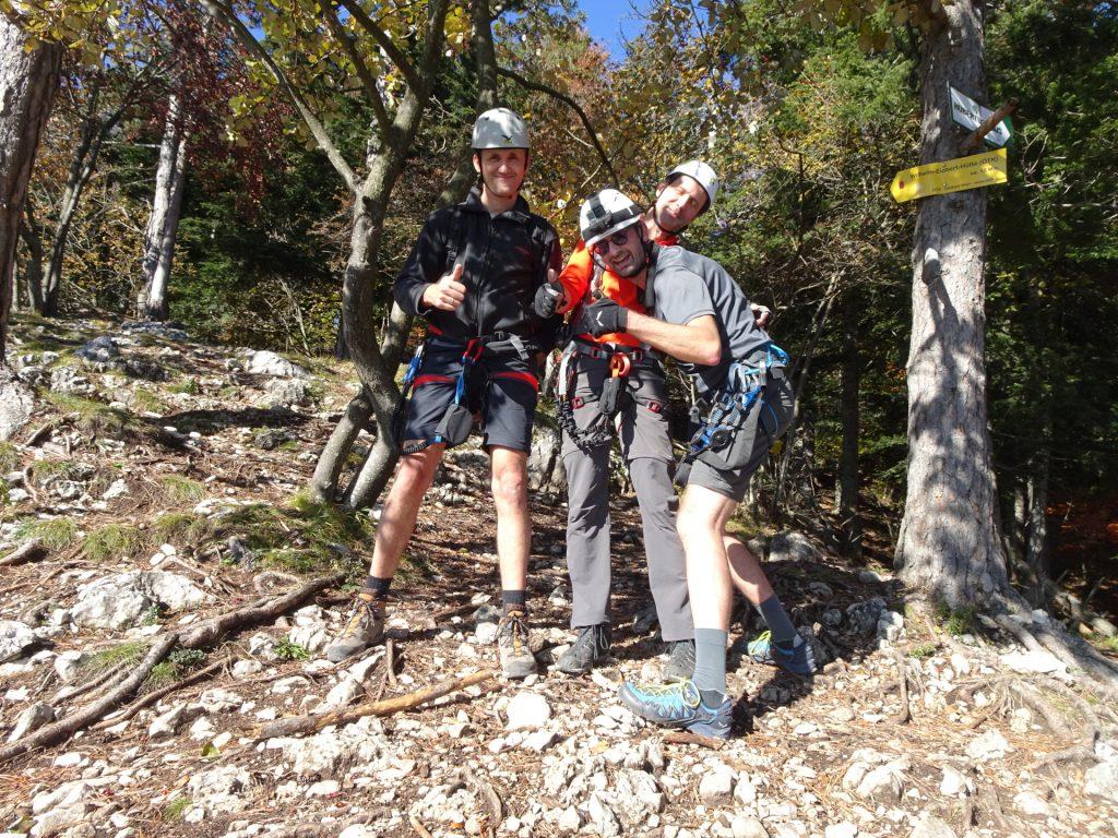 GV-Steig: Bernhard, Hans and Stefan mastered the via ferrata