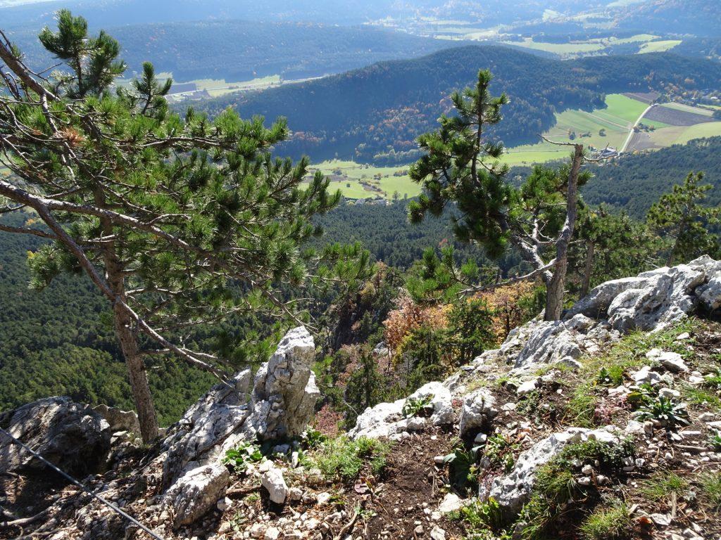 GV-Steig: Exit of the via ferrata