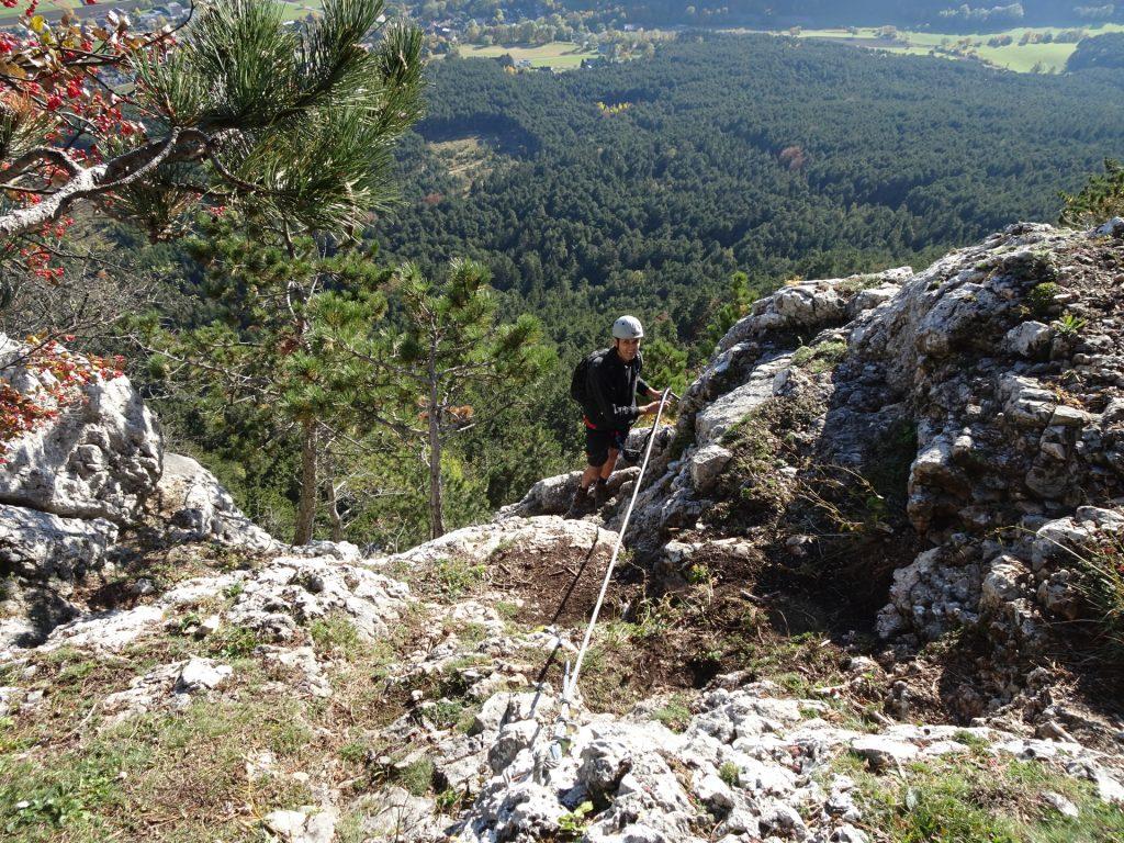 Steirerspur: Bernhard at the exit of the via ferrata