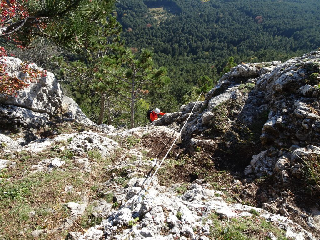 Steirerspur: Hans at the exit of the via ferrata