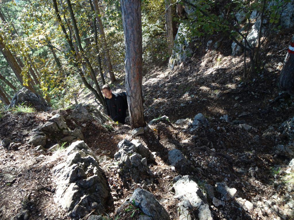 """Bernhard speeds up the descent on """"Springlessteig"""""""