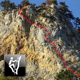 "Via Ferrata: ""Gebirgsvereinssteig (D) and Steierspur (C)"""