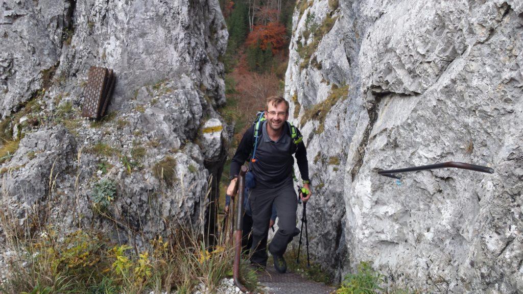 """Stefan climbs up the """"Schönbrunnerstiege"""""""