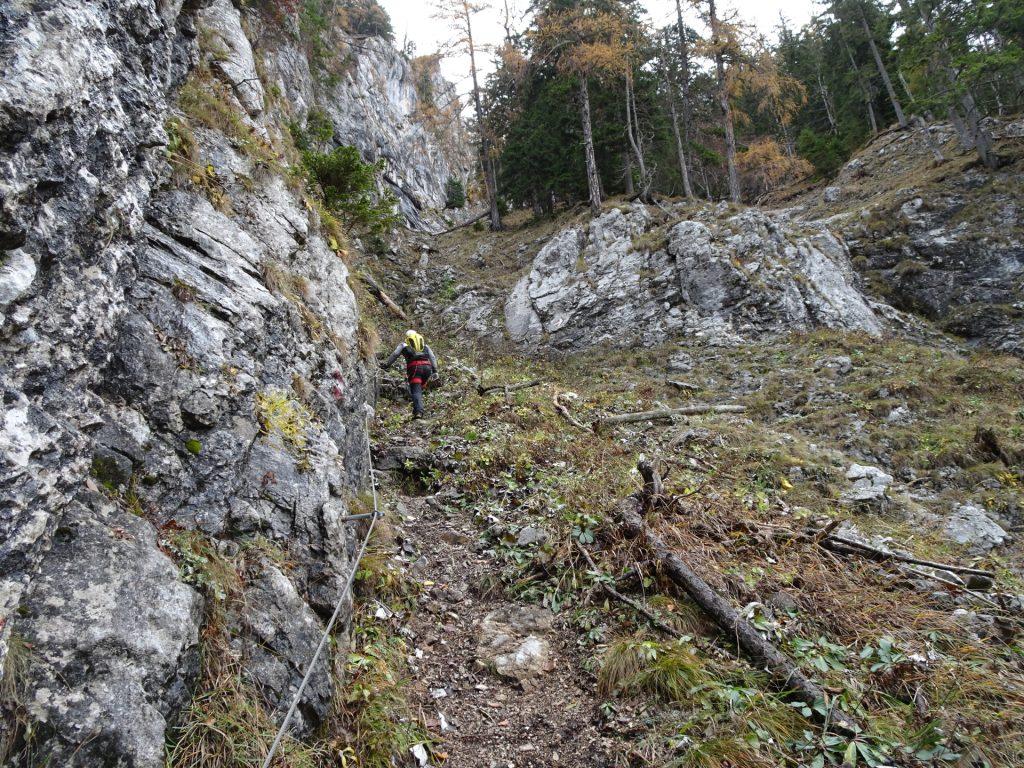 """Climbing up the """"Hoyossteig"""" via ferrata"""