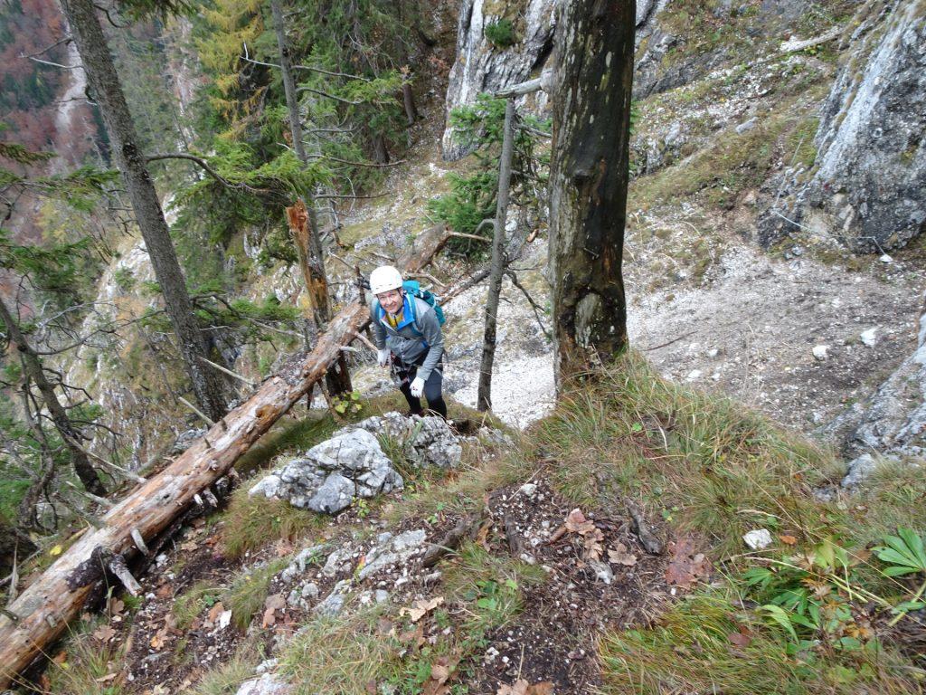 Herbert after the traverse