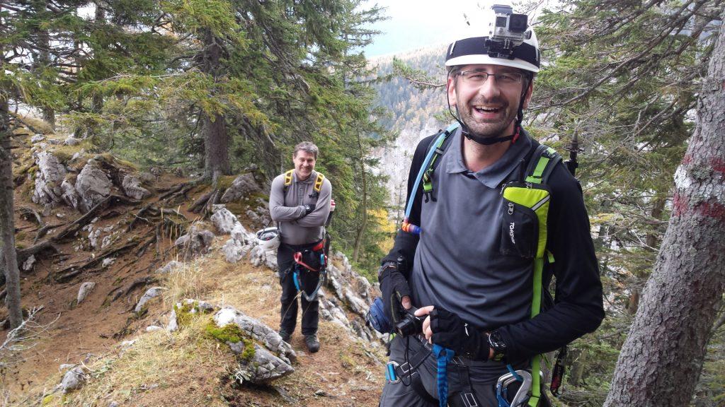 """Stefan and Robert enjoying the view from """"Hoyossteig"""""""